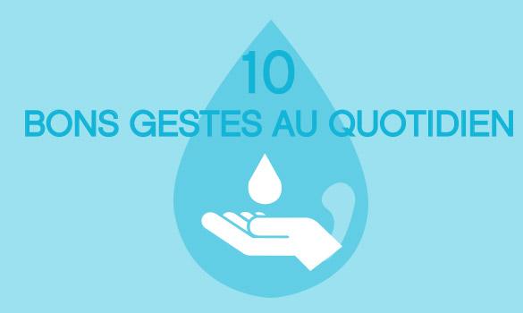 Les 10 bons gestes du Laboratoire LÉA NATURE pour préserver l'eau