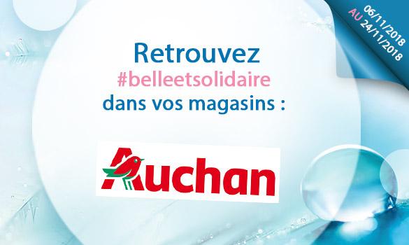Belle et Solidaire chez Auchan