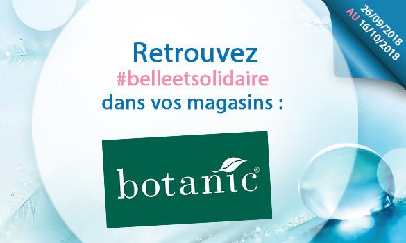 Les offres Belle et Solidaire dans vos magasins Botanic