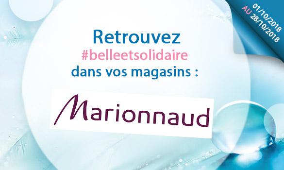 Offres Belle et Solidaire dans vos magasins Marionnaud
