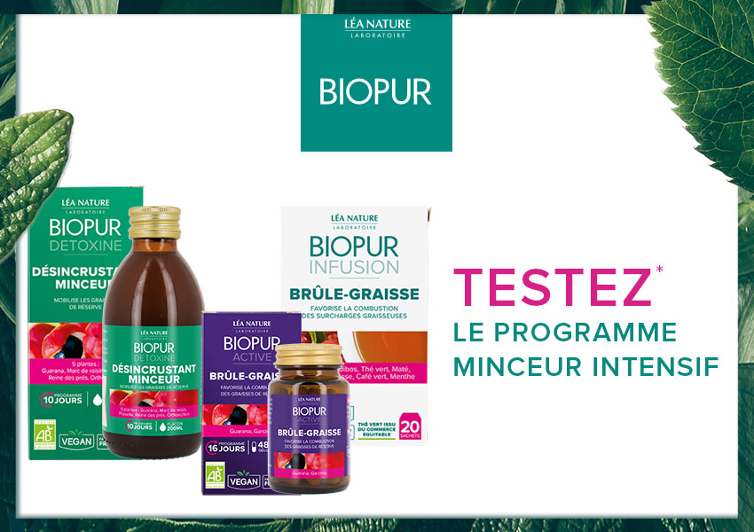 Testez le programme minceur intensif Biopur