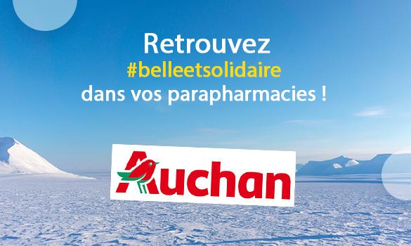 Belle et Solidaire dans vos parapharmacies Auchan