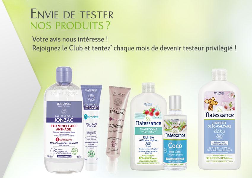 Testez les produits du Laboratoire LÉA NATURE
